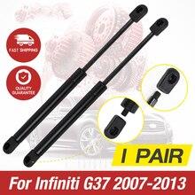 Support de levage de capot   1 paire, Support de levage de capot avant, amortisseur de gaz, capot moteur, pare-choc de gaz, pour Infiniti G25 G35 G37 2007-2013