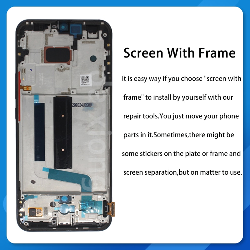 6.57'' AMOLED Screen For Xiaomi MI 10 Lite 5G Display Fingerprint Function 10 Touch Screen Replacement For MI10 Lite 5G Global enlarge
