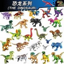 Jurassic World Dinosaurs Building Blocks Figures Tyrannosaurus Rex Triceratops Styx Dragon Animal Model Bricks Toys for Children