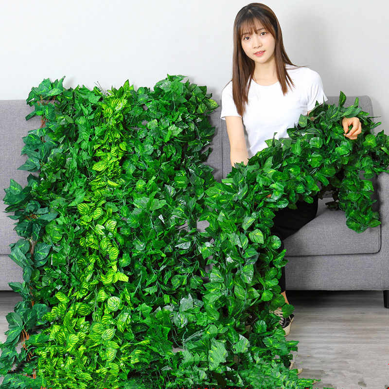 1pc Artificial Decoration Vivid Vine Rattan Leaf Vagina Grass Plants Grape Leaves For Home Garden Party Decoration Artificial Plants Aliexpress