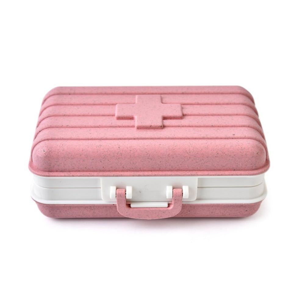 Mini caja de medicamentos de viaje, botiquín de primeros auxilios portátil para el hogar, pequeña bolsa de admisión, paquete médico, Maleta, 3 colores Dr