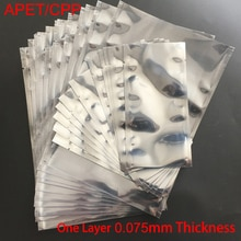 Sac de rangement antistatique en aluminium   23*30cm 23x30cm 23*33cm 23x33cm 24*40cm 24x40 disques, APET CPP Open Top translucide ESD pochette