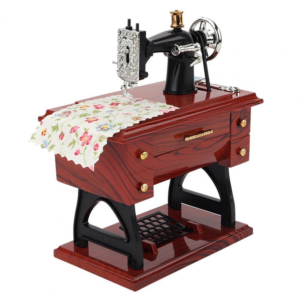 2021 прочная музыкальная шкатулка, самая маленькая деталь, ретро Механическая швейная машина из АБС-пластика, музыкальная шкатулка уникально...
