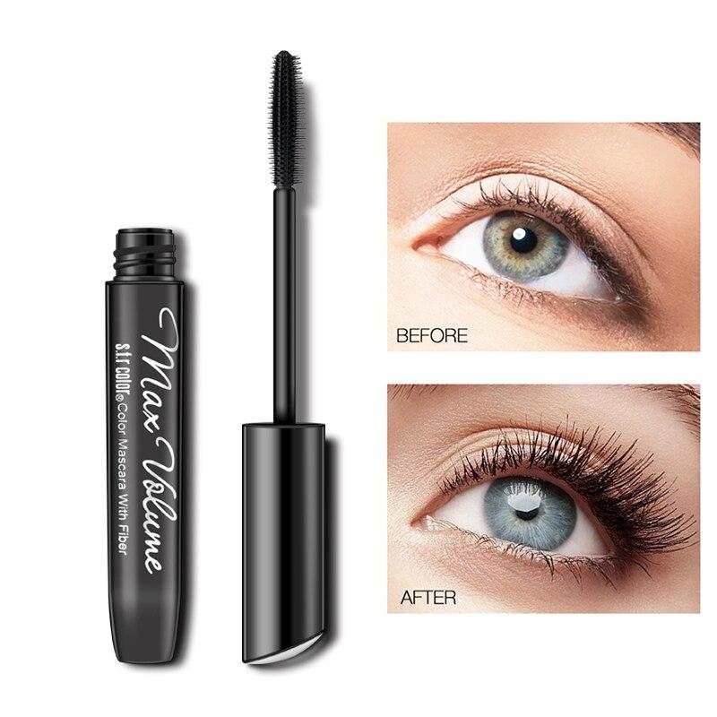 3D Glass Fiber Waterproof Long Lasting Mascara Eyelash Long Black Thick Natural Long Mascara Beauty