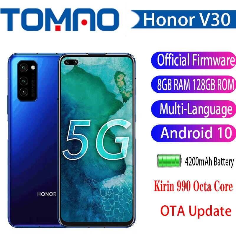 "Original Honor V30 teléfono móvil 5G HONOR 30 SmartPhone Kirin990 7nm Octa core 6GB 8GB RAM 128GB ROM Android 10 6,57 ""NFC"