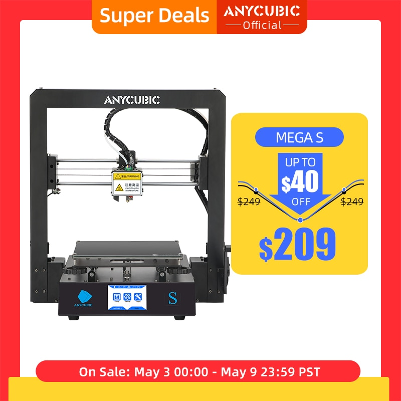 aliexpress.com - ANYCUBIC Mega-S Mega S 3D Printer I3 Mega Upgrade Large Size TPU High Precision Touch Screen DIY 3D Printer kit impressora 3d