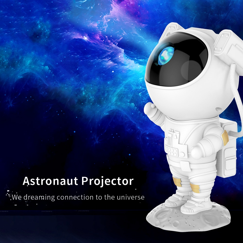 Starry Projector Lamp LED Night Light Spaceman Colorful Change Children Baby Bedroom Xmas Home Decor Table Lamp Christmas Gifts