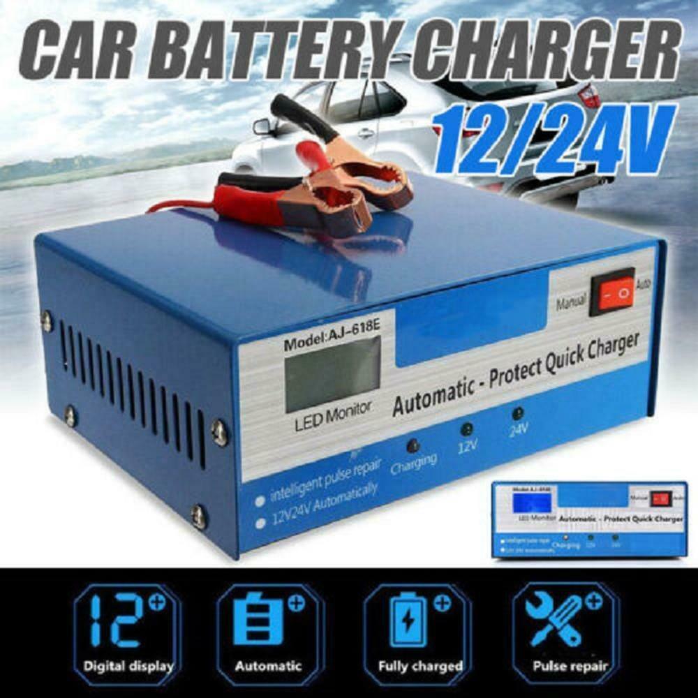 Carregador de Bateria Armazenamento para Carro Conjunto Automático Rápida Inteligente Pulso Reparação Caminhão Motocicleta 1 12 – 24v