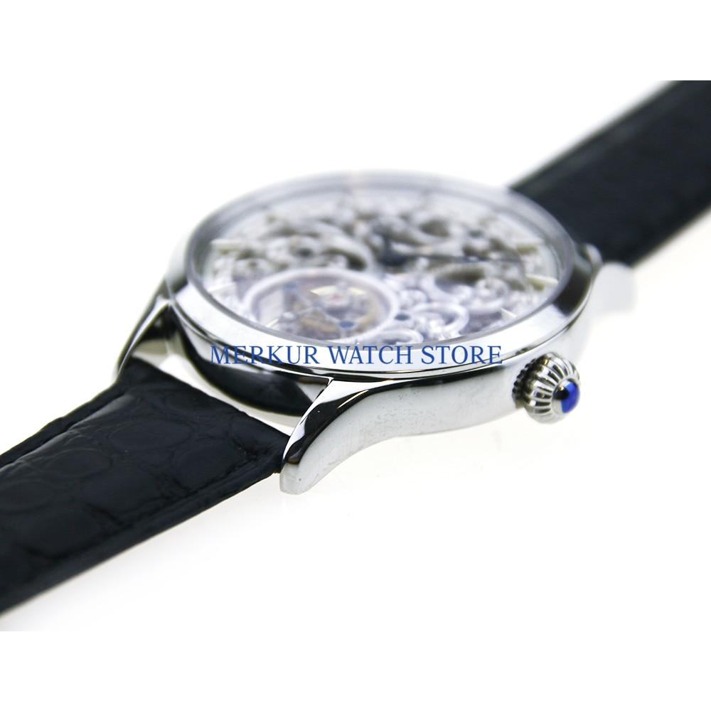 Sugess, reloj para hombre, mecánico volador, TianJin ST800K, Tourbillon, movimiento completo, vestido de lujo skelyton