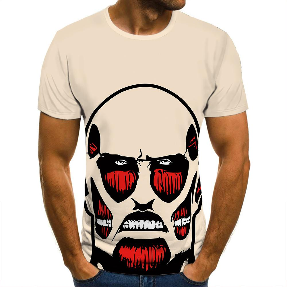 Camisetas en 3d para hombres, ropa de calle de manga corta, de...