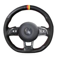 diy anti slip wear resistant steering wheel cover for volkswagen golf 7 gti scirocco polo tiguan r line car interior decoration