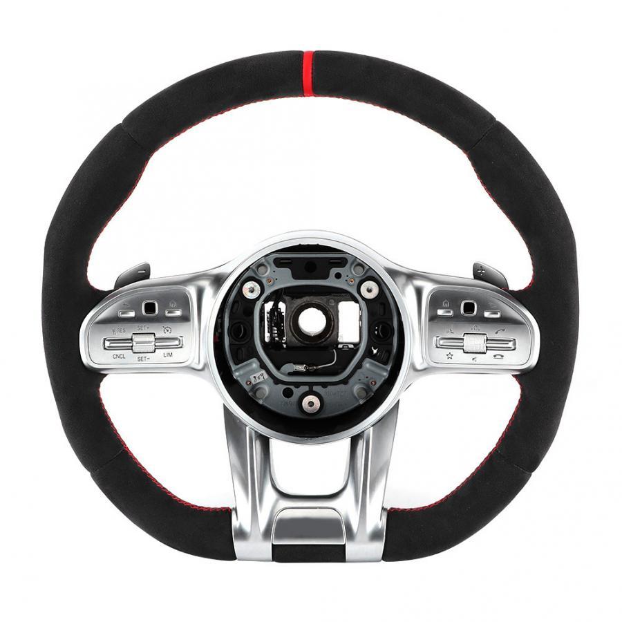 Complet daim pour AMG Performance volant assemblage convient pour mercedes-benz A/B/C/E/S/G/GLC/GLE classe C63 E63 S63 accessoire