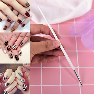 1pc Nail Liner Brush Silver Handle Drawing Painting Pen Brushes Manicure Nail Art Tool