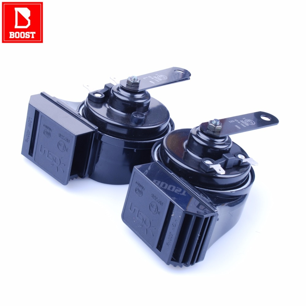 BOOST 168 Car Air Horn  Automtive Car Compressor 12V Signal Super Double Volume Sound Perfect Dual Waterproof Design Air Horn