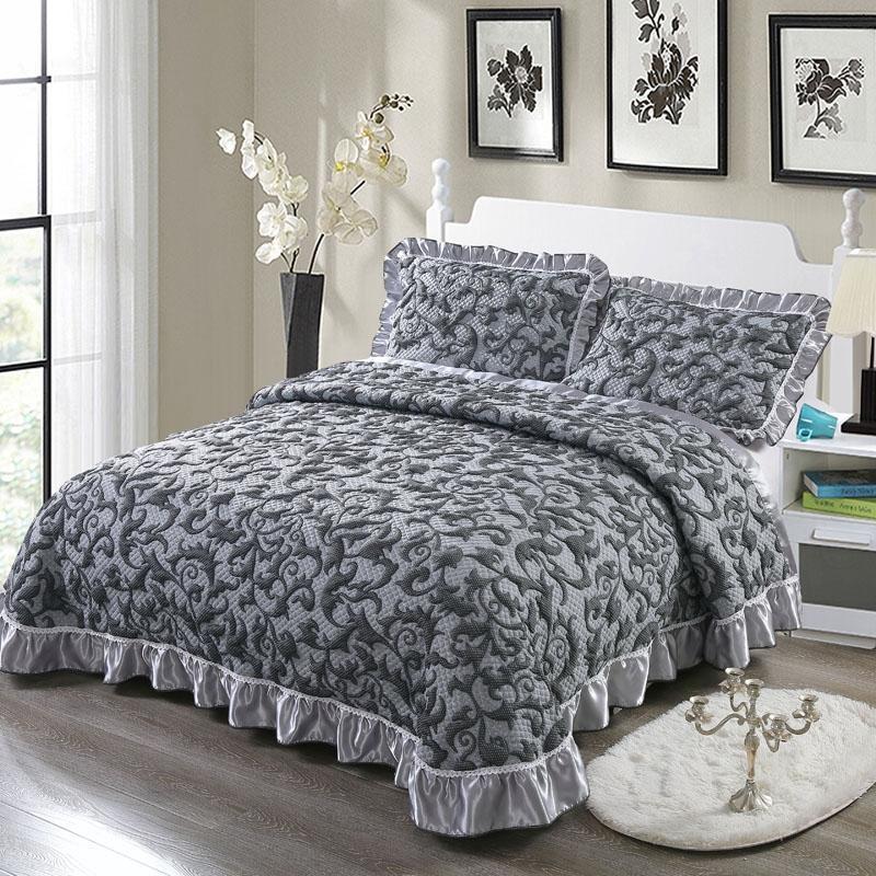 Gruba, pikowana narzuta na łóżko King rozmiar Queen Bed spread zestaw narzut na łóżko materac nawierzchniowy koc poszewka na poduszkę couvre lit colcha de cama40