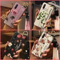 lanyard dirt resistant phone case for xiaomi mi cc9ea3 kickstand soft case shockproof phone holder