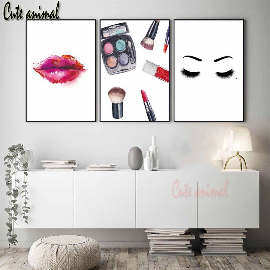 Ronda completa piedras 5d diamante pintura de labio rojo sombras de ojos maquillaje bordado de diamantes de imitación mosaico 3 unids/set