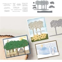 tree metal cutting dies and stamps for scrapbooking 2019 paper craft embossing die card making stencils