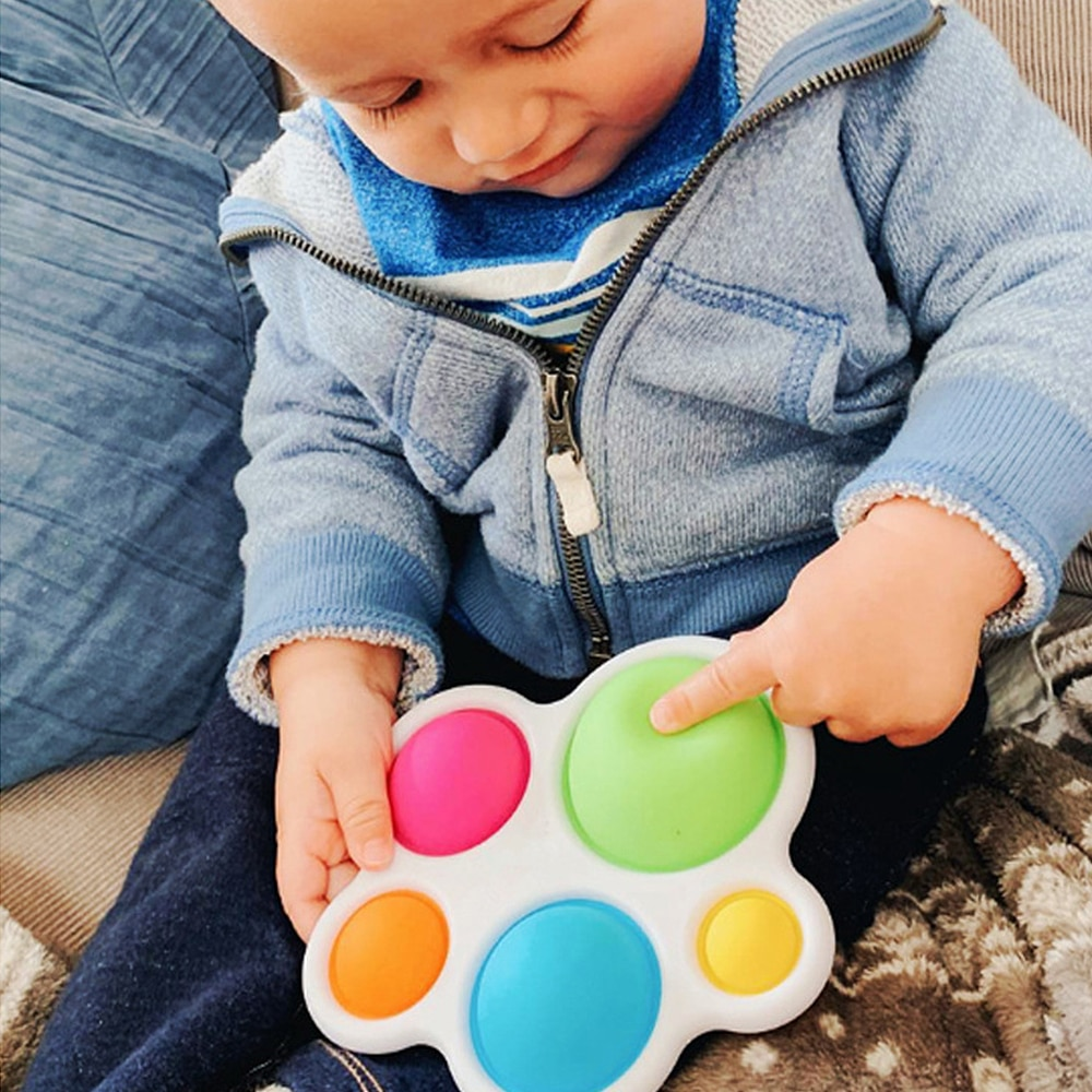 New Baby Toys Fidget Simple Dimple Toys Early Educational Toys Brain Toys Stress Relief Hand Toys Early Montessori Education Toy enlarge