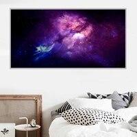 Peinture a lhuile de paysage bleu  violet  art interstellaire  toile  salon  couloir  bureau  decoration murale de la maison