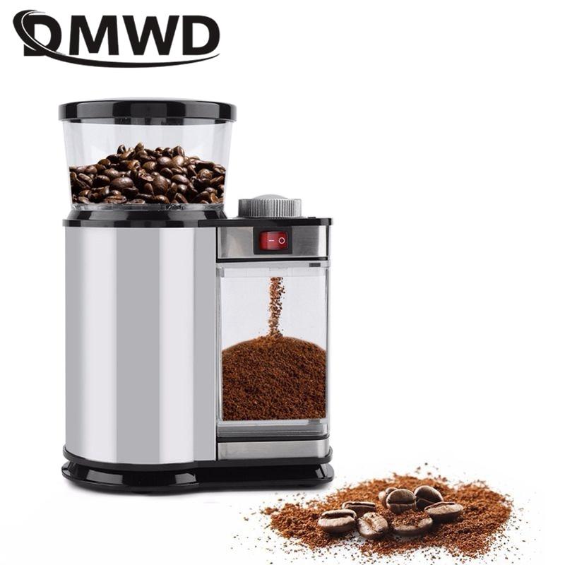 DMWD المنزلية مطحنة بن كهربائية الحبوب التوابل ماكينة الطحن الحبوب الفول مطحنة مسحوق صانع الغذاء كسارة 9Gear 110/220 فولت