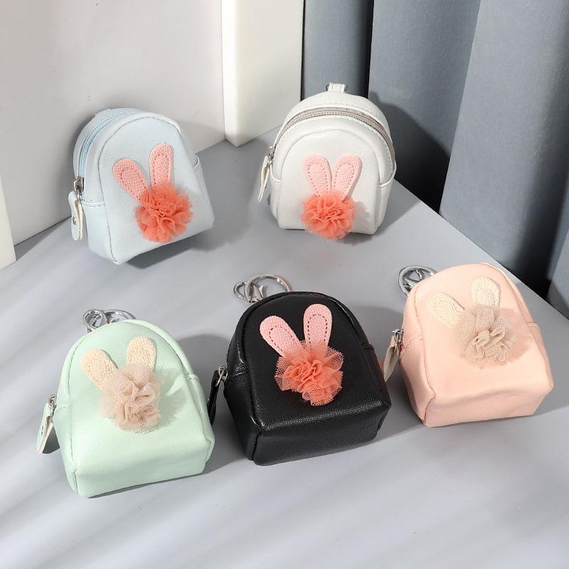 Women Schoolbag Money Bag PU Small Coin Purse Holder Wallet Mini Wallet Holder Zip Coin Small Bags Portable Key Bus Card 2021