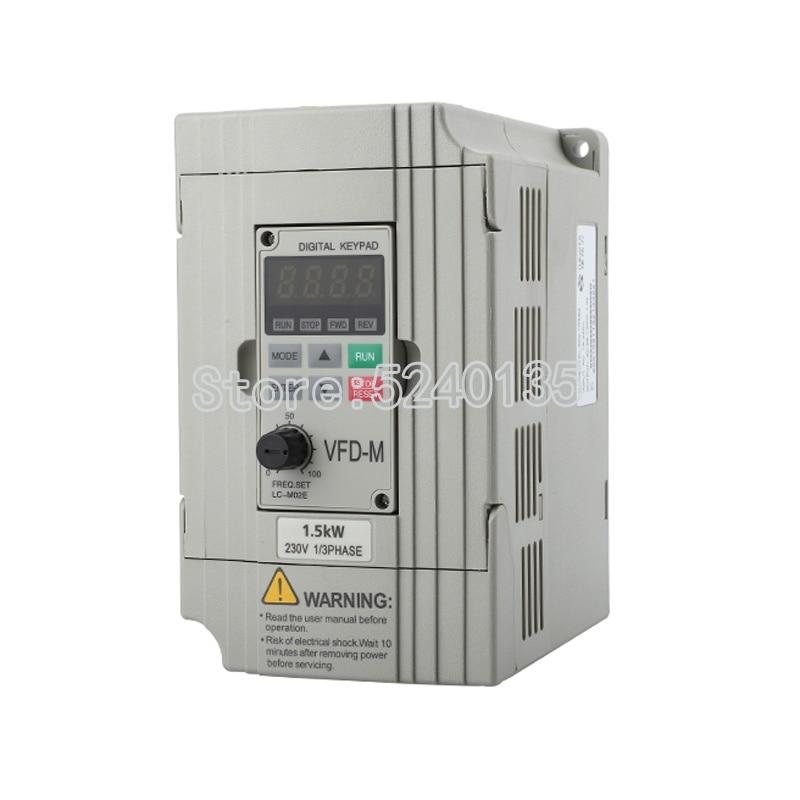 دلتا VFD-M سلسلة جديد الأصلي العاكس VFD004M21A مرحلة واحدة 220V 0.4KW / 0.75kw 1.5kw