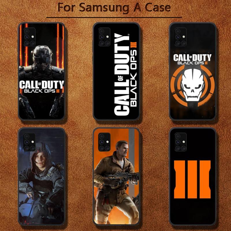 Llamada de servicio negro Ops III caso de teléfono para Samsung A91...