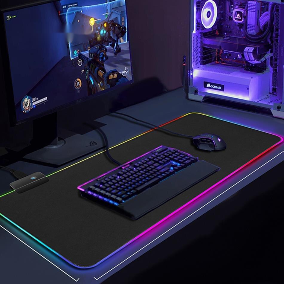 RGB alfombrilla para ratón de Juegos de ordenador alfombrilla para jugador grande...