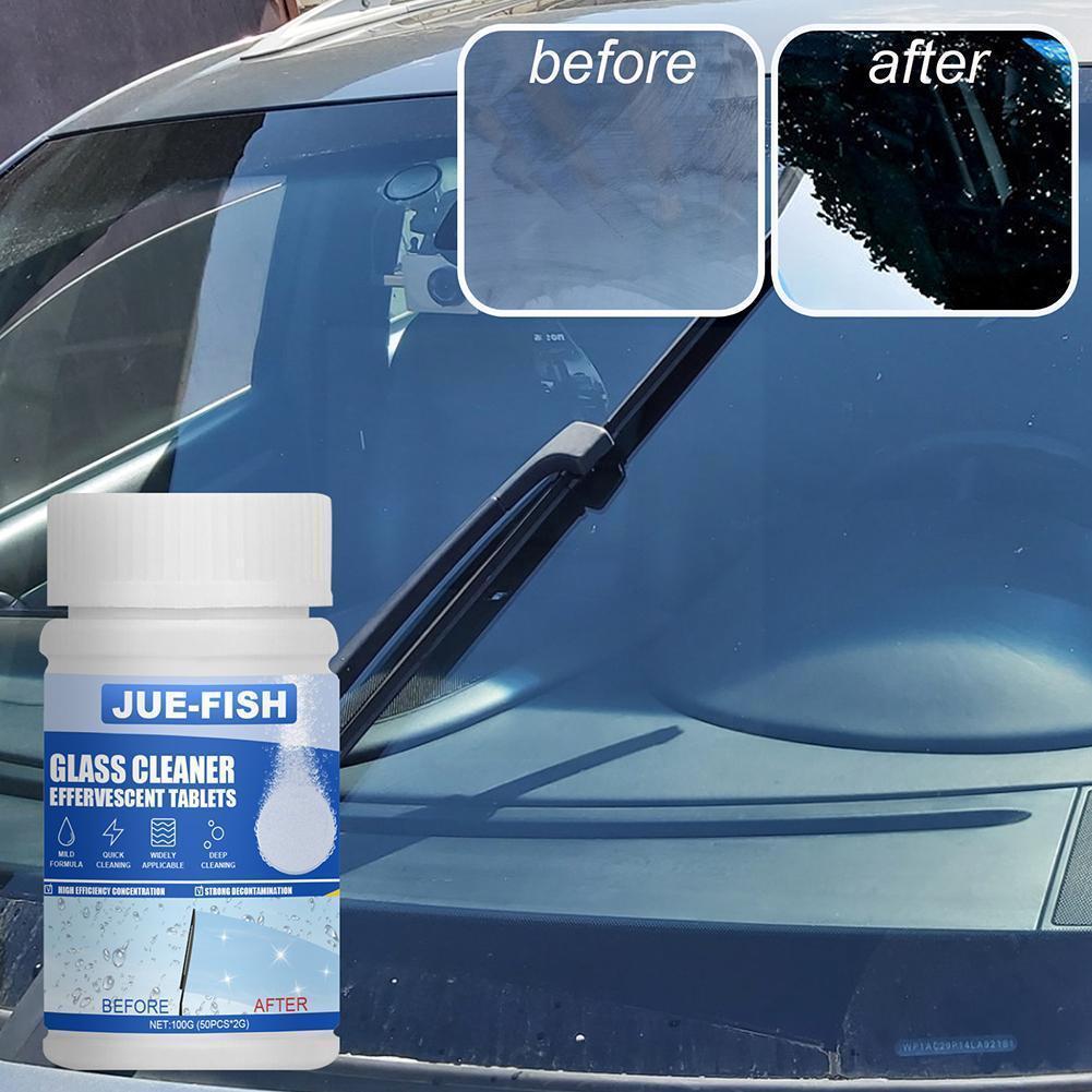 Стеклоочиститель для лобового стекла автомобиля, 50/100 г, оптовая продажа, очистка окон автомобиля, шипучие таблетки, аксессуары, очиститель ...