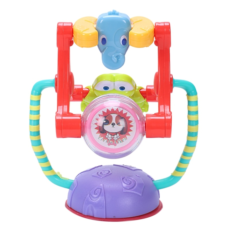 Juego de actividades para bebés, sonajero con noria, juguete para el desarrollo de la inteligencia, rompecabezas, silla de comedor para bebé, carrito con ventosa