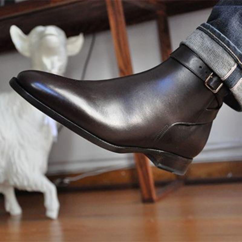 جديد الرجال الموضة بو الجلود الأعمال فستان الأحذية حزام مشبك غطاء قدم حذاء برقبة للعمل قاطرة الأحذية الكلاسيكية حار مبيعات 5KE433