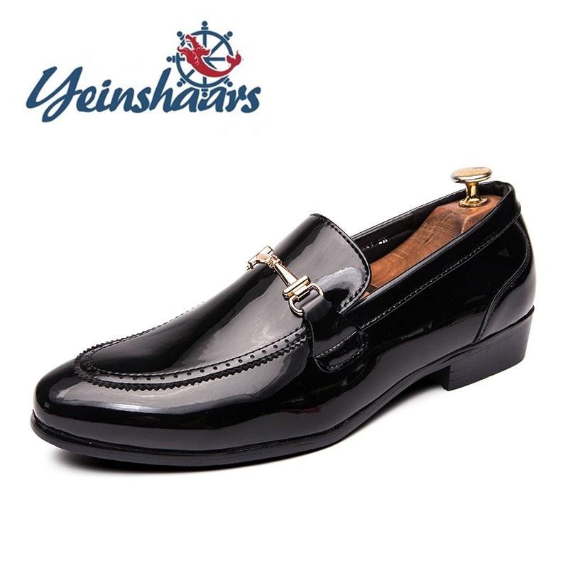 Zapatos de moda brillantes para Hombre, Zapatos informales de cuero, Zapatos clásicos...