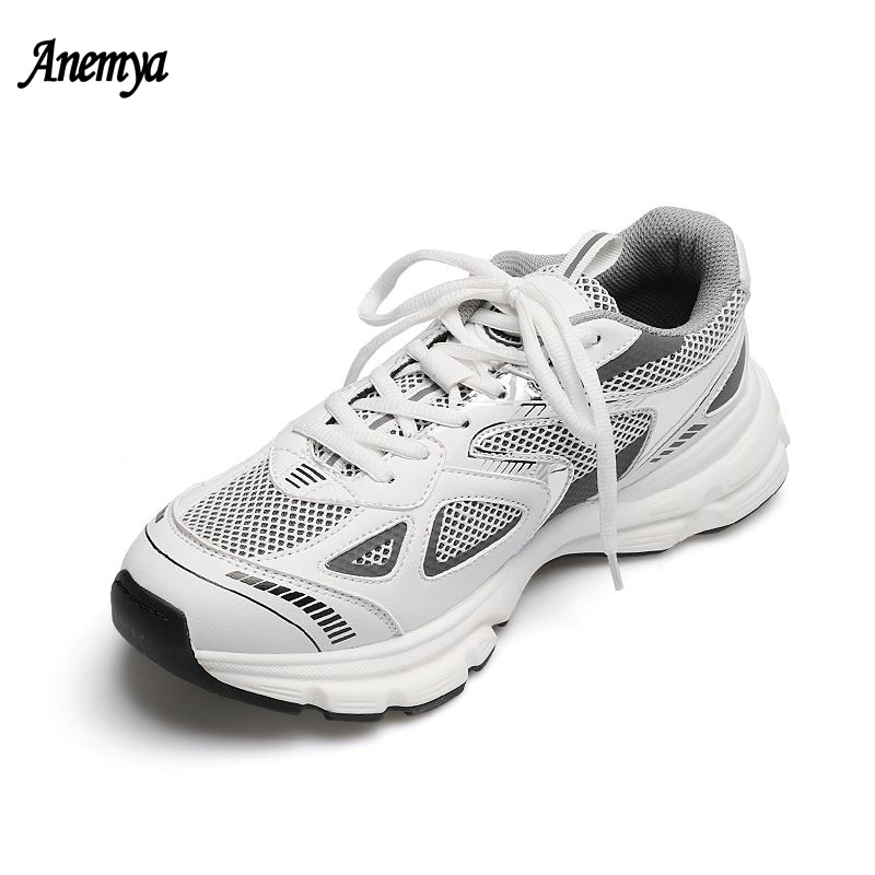 Retro Casual Sneakers Women Summer Mesh Breathable Light Running Shoes For Women Jogging Sports Shoes Woman Vulcanized Shoes New
