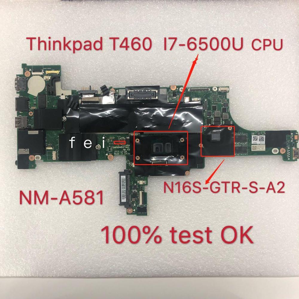 Para Thinkpad T460 i7-6500U I7-6600 Placa de Vídeo Independente Placa Principal NM-A581...