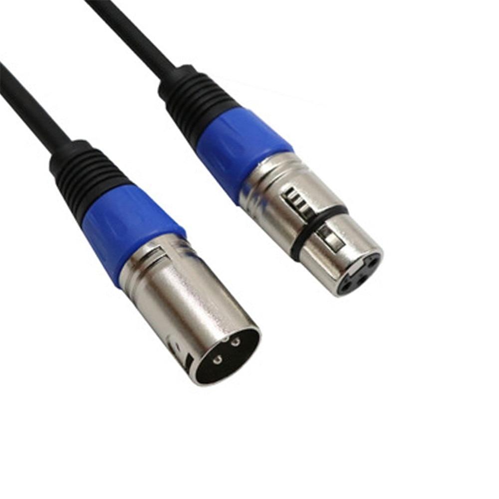 0.3M kabel XLR przewód mikrofonowy męski na żeński Adapter Audio Stereo wtyczki BU aplikacje do połączenia z PC # T3