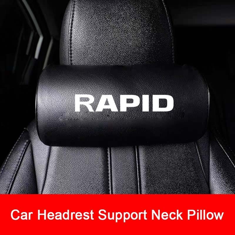 Asiento de coche cabeza descanso del cuello almohada para Skoda coche RAPID cuello reposacabezas almohada reposacabezas del asiento Accesorios