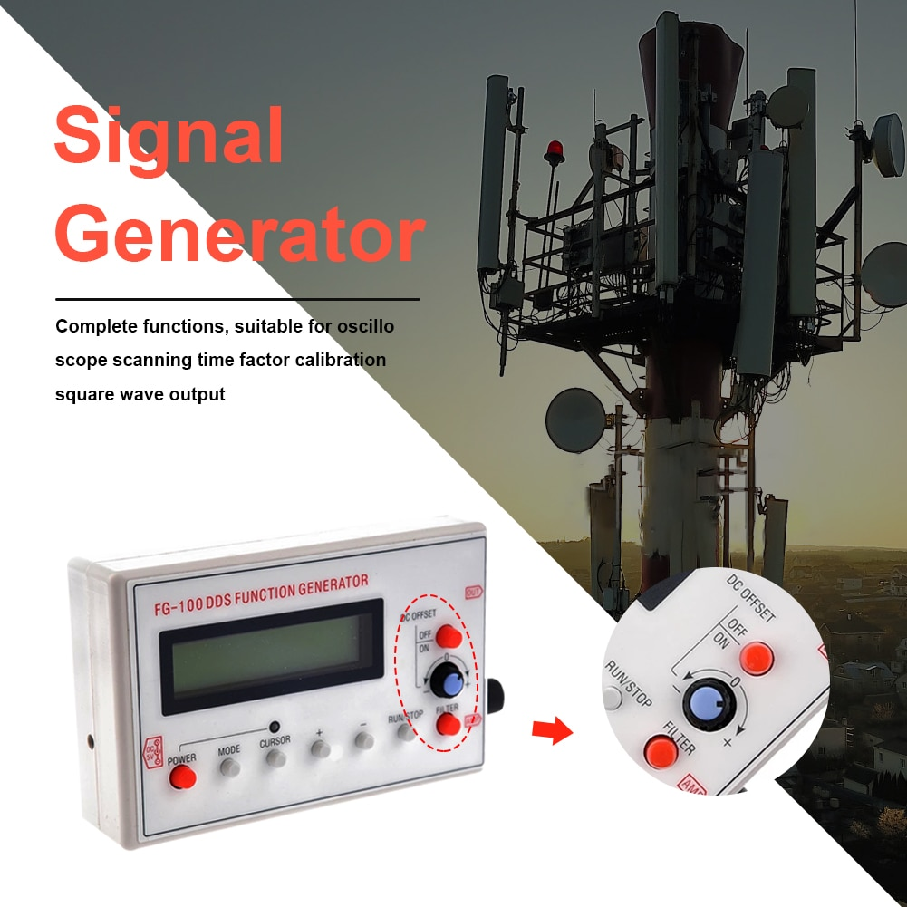 Repeater Power Amplifier Public Broadcasting Function Generator 1Hz-500kHz Sine Square Triangle Sawtooth Waveform