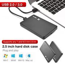 2,5 Inch Serielle Festplatte Box Sata Zu USB 3.0/2,0 Festplatte Adapter 5Gbps Box Unterstützt 2TB für WIndows Mac OS Festplatte HDD