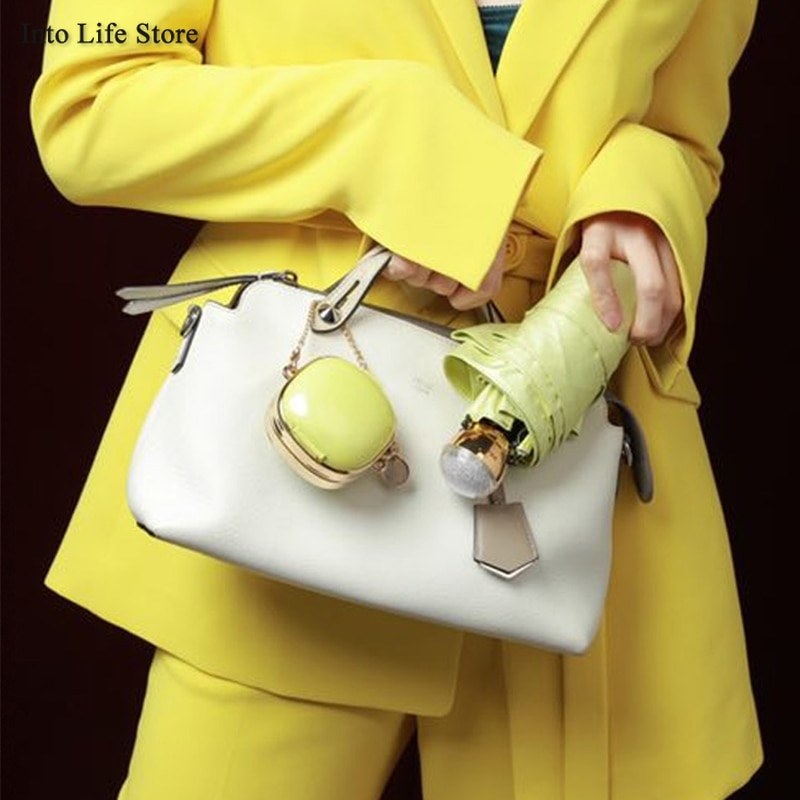 Mini Beach Umbrella Sun Rain Women Small UV Clear Umbrella Pocket Parasols Luxury Ladies Folding Umbrellas Gift Ideas UPF50+ enlarge