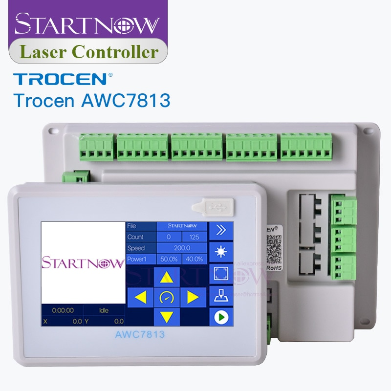 Trocen-لوحة Ruida AWC7813 محسّنة AWC708S ، تحل محل نظام التحكم CNC ، قطع غيار الآلة ، بطاقة تحكم ليزر CO2