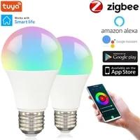 Zigbee 9W E27 Dimmable LAMPE A LED Rvb WIFI Tuya Smart Ampoule Bluetooth Controle IR Telecommande Colore Ampoule Maison Intelligente