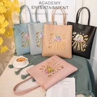 womens bag 2021 summer new leather large capacity cartoon print ufo commuter bag handbag tote shoulder bag