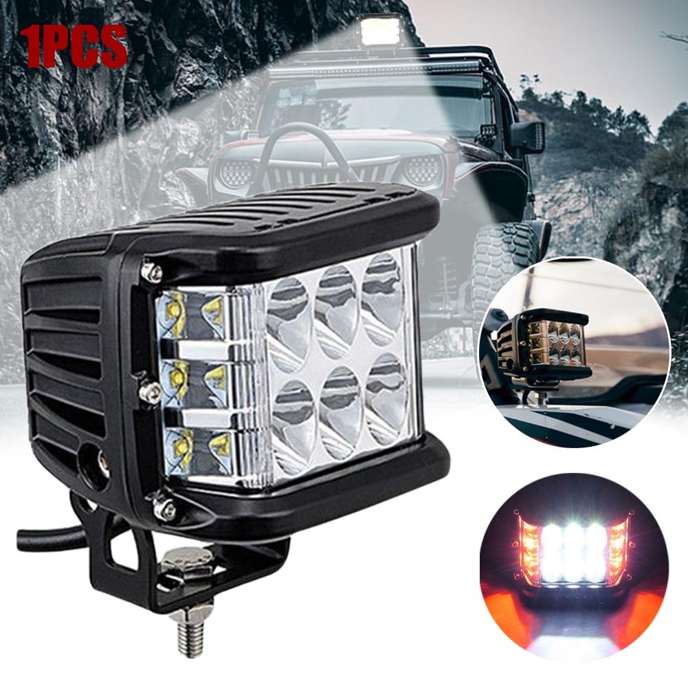 """4""""Inch 90 W Side Shooter Pods Combo LED Work Light Strobe Lamp Fog ATV SUV Trucks"""