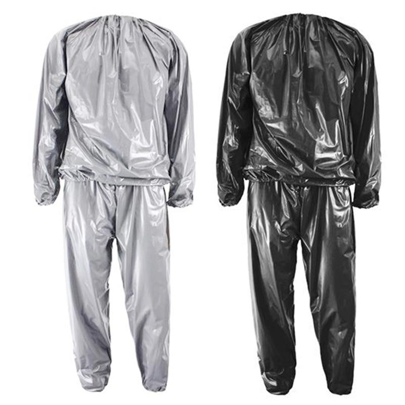 2 uds pesado Fitness pérdida de peso traje de Sauna para sudor gimnasio ejercicio Anti-Rip XL Color plata y negro