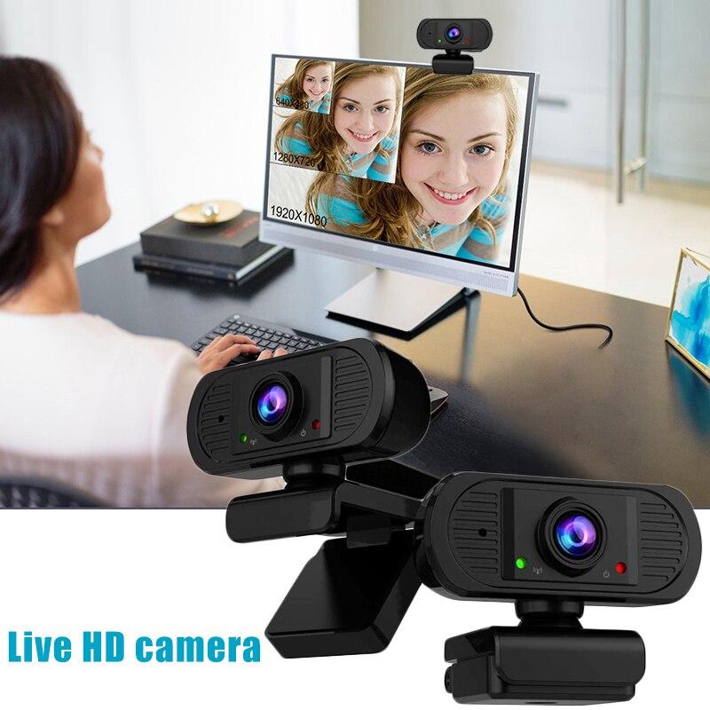 USB 2.0 HD 1080P كاميرا ويب كاميرا فيديو مع ميكروفون للكمبيوتر المحمول مكتب المنزل H-best