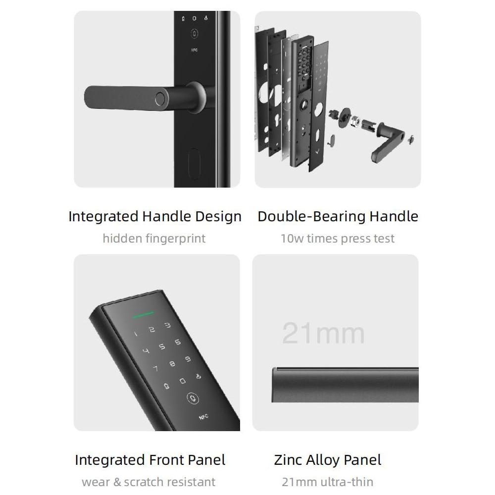 Fingerprint Smart Door Lock Password NFC Key APP Unlock Bulit-in Doorbell Opening Detect Work With Mijia/mi home Smart Linkage
