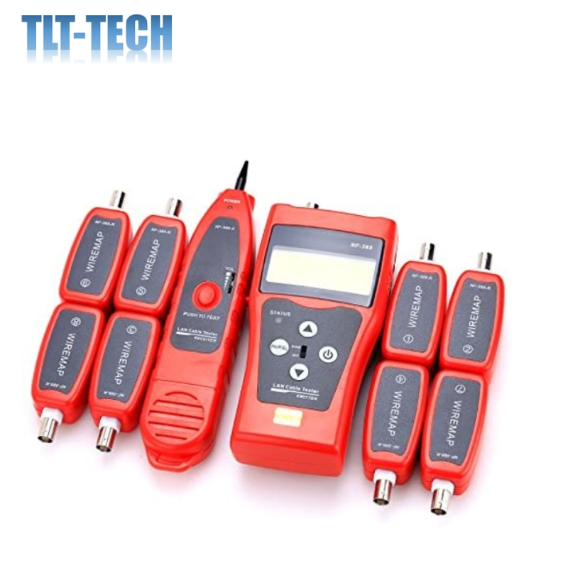 NF-388 Multipurpose Handheld Network Coax Cable Tester Trace Cat6 6E Cat5E Coaxial Cable Tracker USB BNC RJ45 RJ11 Tester nf 8601 multi functional network cable tester lcd cable length tester breakpoint tester english version