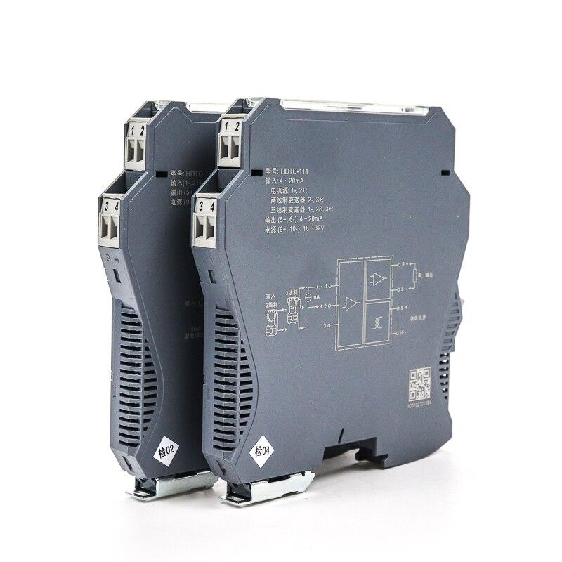 1 en 2 salida Din-rail 4-20ma convertidor de señal analógica aislador de señal de voltaje de corriente tecnología de aislamiento electromagnético