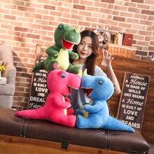 60cm/95cm Cartoon Dinosaur Plush Toys Unicorn Huge Tyrannosaurus Rex Plush Dolls Stuffed Toys For Children Boys Classic Toys
